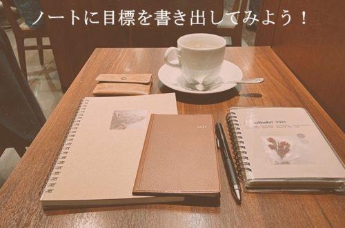 カフェとノートと手帳