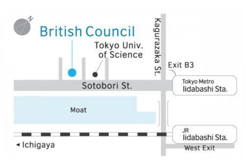 IELTSテストの会場(東京)地図
