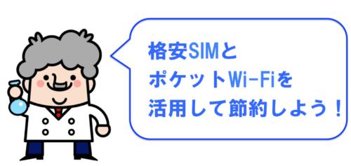 格安SIMとポケットwifiを使用して節約