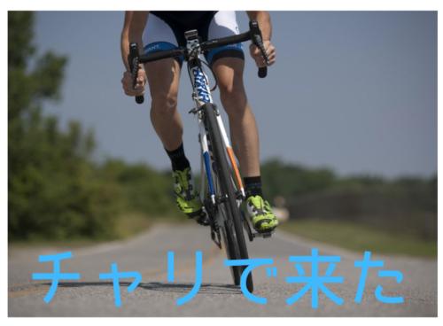 自転車 チャリで来た