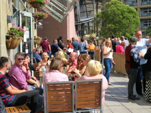 Pubs and bars in UK's City Centre
