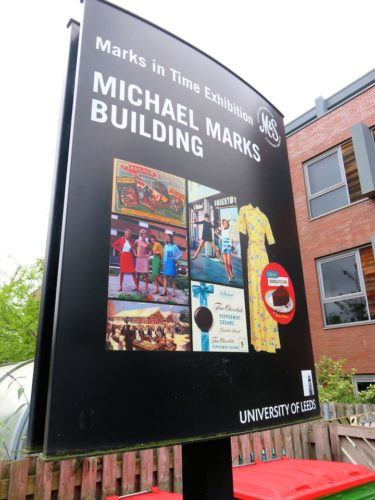 Signboard of Michael Marks Building