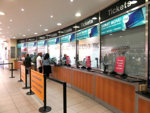 Tickets counter at Leeds station