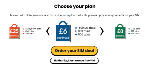 giffgaff choose plan