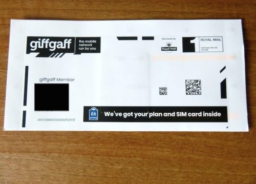 receiving giffgaff letter