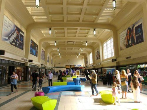 In Leeds Station