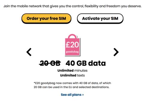 giffgaff order your free SIM
