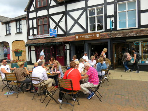 Cafe at Shakespeare's Birthplace