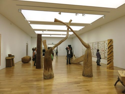 David Nash in the Cardiff National Museum 2