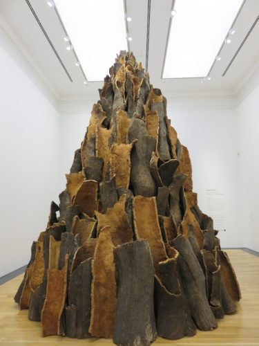David Nash in the Cardiff National Museum