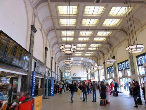Inside of Cardiff Central Railway Station