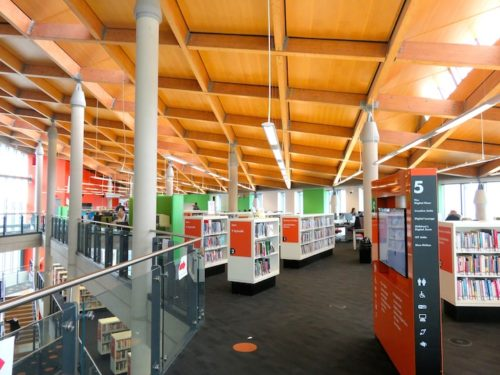 Inside of the Cardiff Central Library
