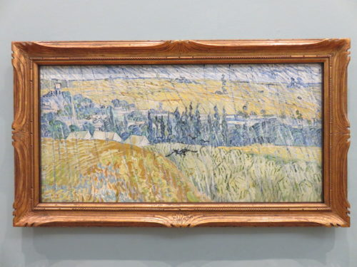 Rain, Auvers, Gogh in the Cardiff National Museum