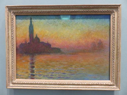 San Giorgio Maggiore by Twilight, Monet in National Museum Cardiff