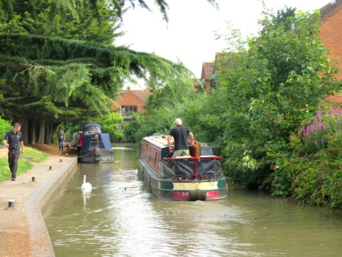 Canal and Boat at Stratford-upon-Avon