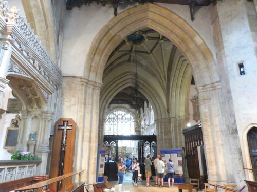 The interior of _Church of the Holy Trinity, Stratford-upon-Avon