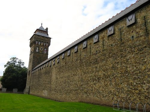 Wall of the Cardiff Castle