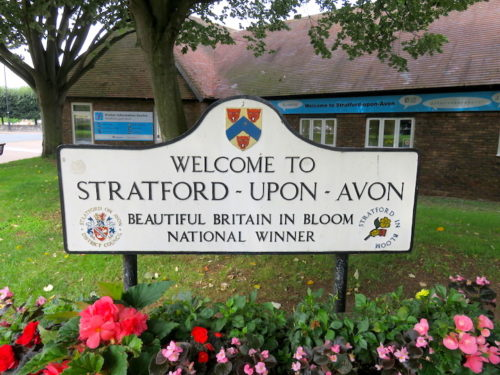 Welcome Board of Stratford-upon-Avon