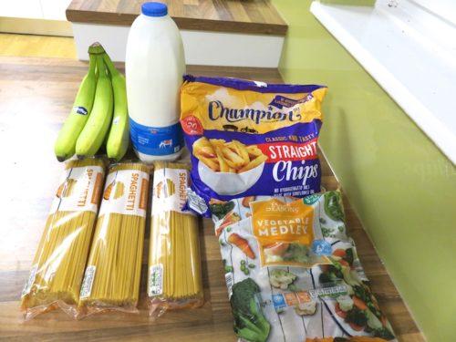 ALDIで購入した食材