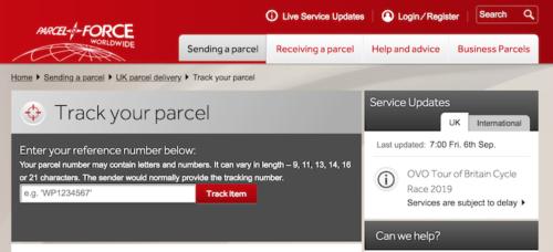イギリスの宅配便・物流サービス, Parcelforce Worldwide