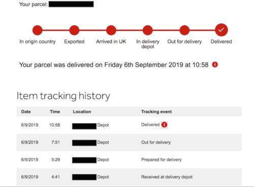 配達状況確認, イギリスの宅配便・物流サービス, Parcelforce Worldwide