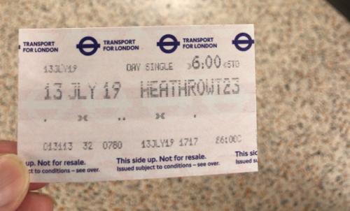 ticket, london, subway