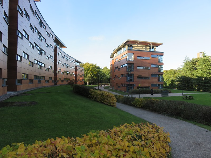 バーミンガム大学の寮(Mason)外観