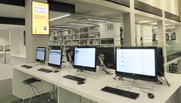 バーミンガム大学図書館のPC