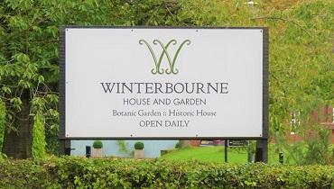 ウィンターボーン・ハウスガーデンの看板