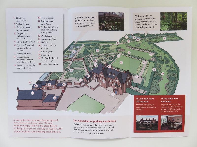 ウィンターボーン・ハウスガーデンのマップ
