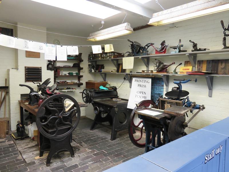 ウィンターボーン・ハウスガーデンの資料館の印刷所