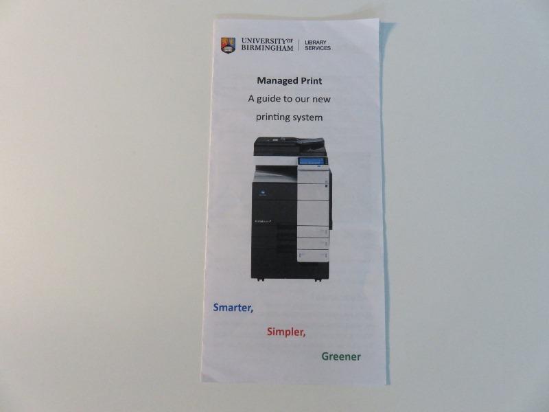 バーミンガム大学図書館のプリンターの使い方