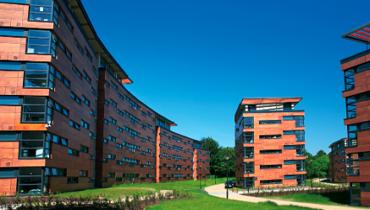 バーミンガム大学の寮の外観