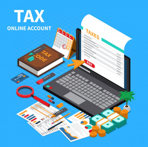 online tax image