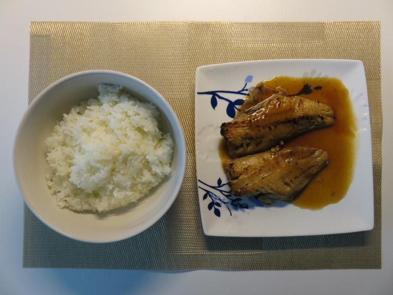 赤魚の煮付けとご飯