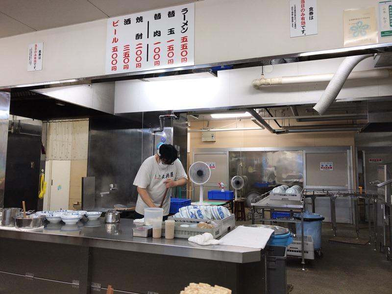 元祖長浜屋のキッチン