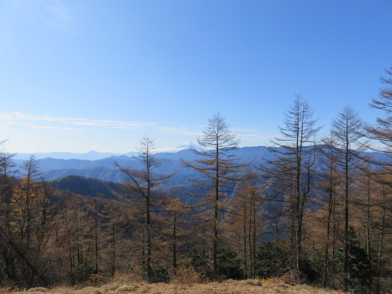 七ツ石小屋から雲取山へ登山中の眺め