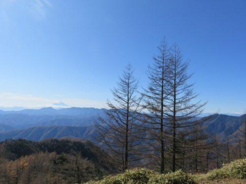 標高2000メートルからの景色(雲取山)