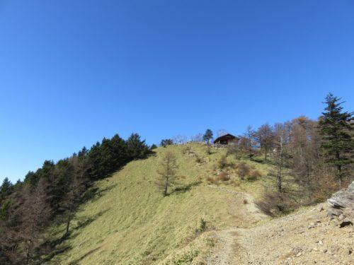 雲取山の山頂までのラストスパート