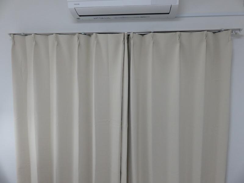 Bedsureのカーテン設置完了