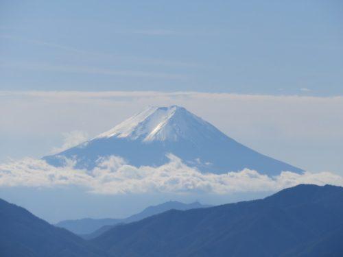 雲取山山頂からの富士山