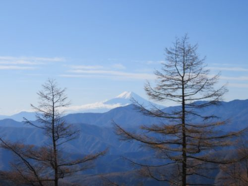 雲取山からの富士山