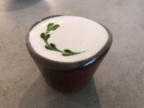 うつわとカフェLimの抹茶ラテ