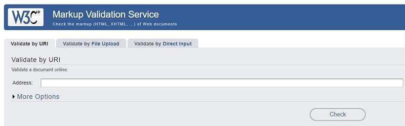 W3Cでサイトをチェック
