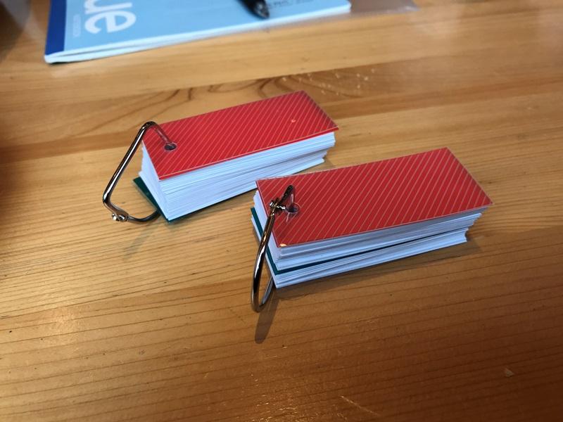 単語カードでウィッシュリストを作成