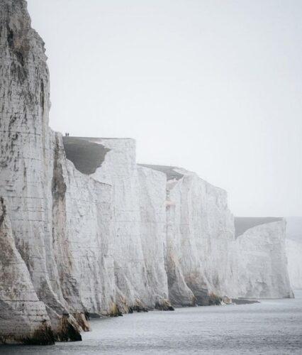 ビーチヘッドの垂直な崖