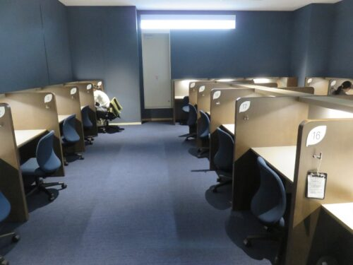 板橋区新中央図書館で静かに読書や勉強できる集中エリア