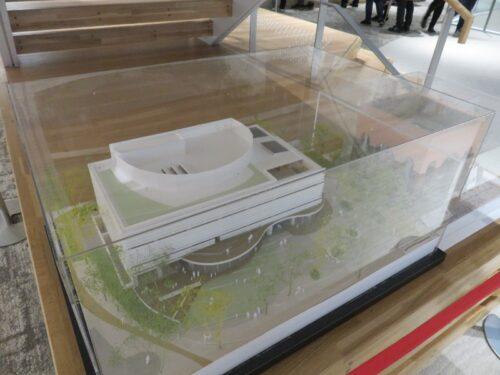 板橋区新中央図書館の模型(1/100)