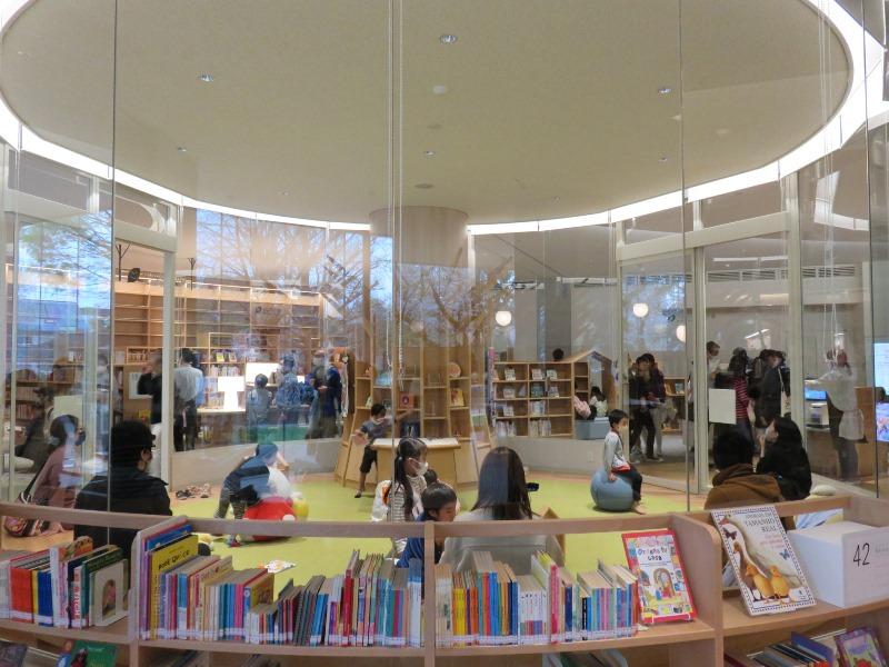 板橋区新中央図書館のキッズスペース