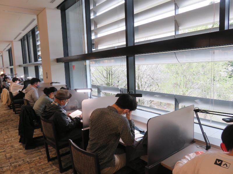 板橋区新中央図書館の読書学習スペース